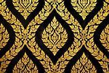 thai art gold paiting pattern