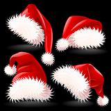 Four Santa&#39;s Hats