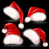 Four Santa's Hats