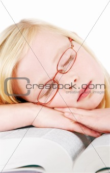 Sleeping schoolgirl