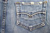 pocket blue jean