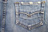 pocket blue jean