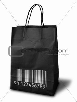 black shopping peper bag