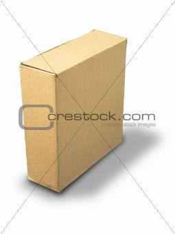 closed brown paper box