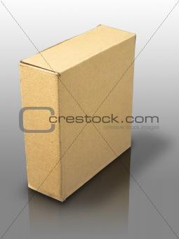 close brown paper box