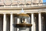 St Peter's Square fountain in Vatican, Rome, Italy