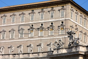Apostolic Palace, Pope's residense and window