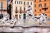 Piazza Navona, Neptune Fountain in Rome