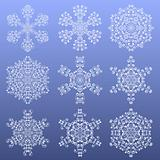 Set of a snowflakes. Vector illustration.