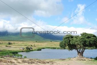 Breakfast in Ngorongoro Crater