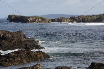 (2248) Scenic of water, rock formations,