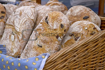 Ciabatta Bread in Basket