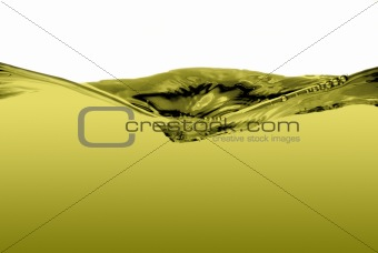 Green liquid wave
