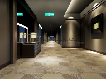 Rendering modern corridor