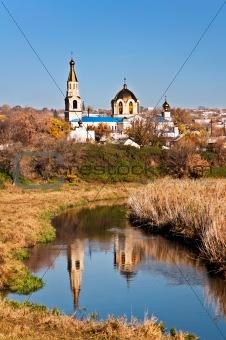 Church on river bank