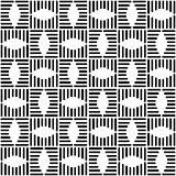 Seamless checked design. Geometric black-and-white pattern.