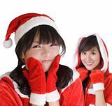 Young Christmas girls