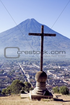 Cross and Volcano