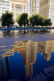 Reflection of Michigan Avenue buildings