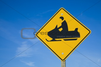 Careful! Snowmobiles!