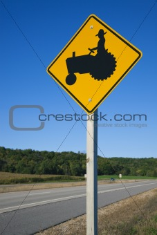 Be careful! Farmers on tractors!