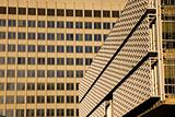 Textures on buildings in downtown Memphis