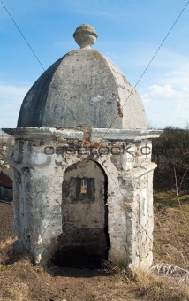 Old watchtower in Olesko castle (Ukraine)