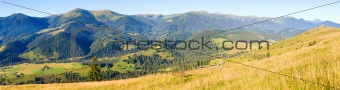 autumn mountain country panorama