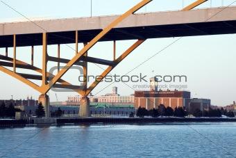 Clock Tower under the bridge