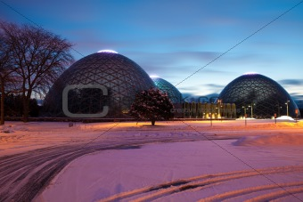 Domes of a Botanic Garden in Milwaukee; Wisconsin.