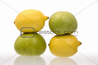 Lemons and green apples