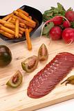 Cured raw pork loin