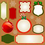 Set of Christmas vector frames