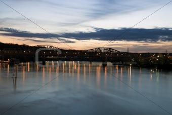 Bridge on Ohio River in Cincinnati