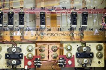 Breaker panels in power plant