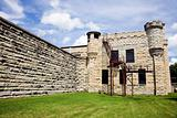 Walls of historic Jail in Joliet, Illinois