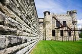 Walls of historic Jail in Joliet