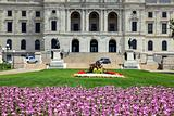 Flowers in front of State Capitol