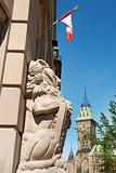 Central Post Office and the Parliament in Ottawa