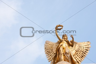 Goddess statue in the sky.