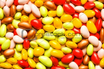 Background made of sweet eggs of various colours