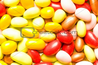Background made of many colourful jelly beans
