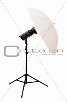 Studio umbrella isolated on the white background