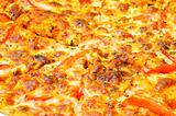 Close up of pizza background