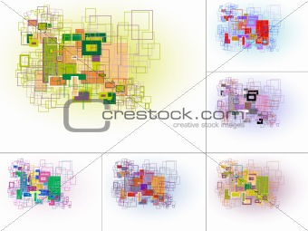 Abstract rectangle based background