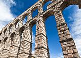 The ancient aqueduct in Segovia