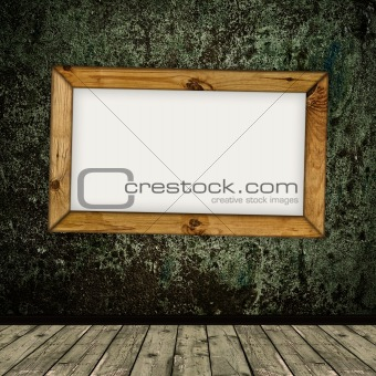 frame over grunge interior