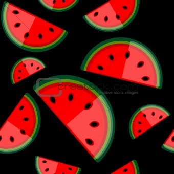 Watermelon seamless background for your design