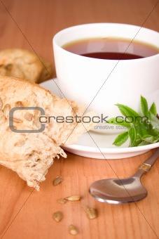 black tea with herbs