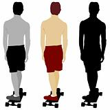 Skateboarder Set